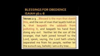 GOD'S SABBATH COMMANDMENT Part 2