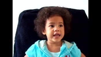 Amazing 2 year old gets really excited saying the Lord's prayer