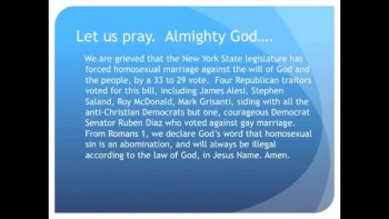 The Evening Prayer - 26 June 11 - New York forces Gay Marriage with Help from 4 RINOS