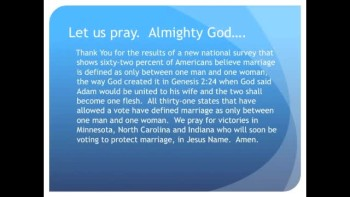 The Evening Prayer - 27 June 11 - 62 Percent Of Americans Support Traditional Marriage