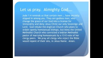 The Evening Prayer - 30 June 11 - Anglicans Ordain Gay Bishops; Methodists Convict Lesbian Pastor