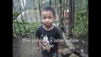 Cute Mayanmar Boy Recites Psalm 23