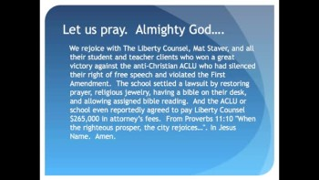 The Evening Prayer - 03 July 11 - Santa Rosa Florida Schools Stop Censoring Christian Speech