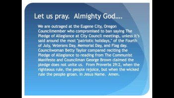 The Evening Prayer - 08 July 11 - City Council Compares Pledge of Allegiance to Communist Manifesto