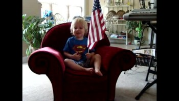 One Nation Under God - 2 yr old Jansen knows the Importance