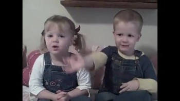 DARLING British Twins Recite Psalm 100