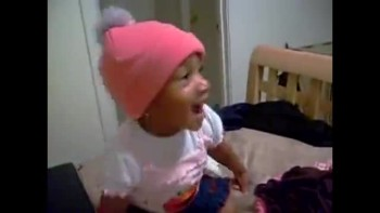 "So Cute! Toddler sings ""Never could have made it"""