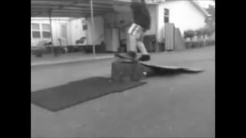 Kickflip off ramp