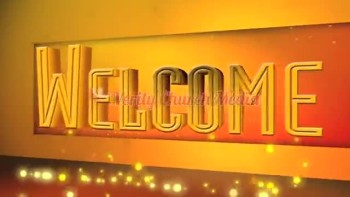 Announcement Video: Welcome with Orange  Glowing Bouncing Balls
