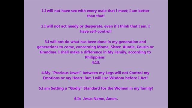 Setting Godly Standards