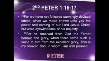 FOCUS 2: Godhead A Prophet Like Moses