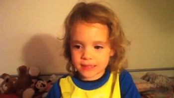 2 Year Old Recites The Lord's Prayer