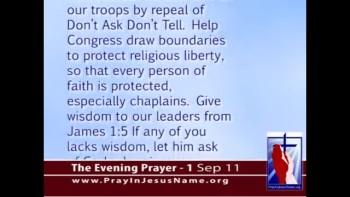 The Evening Prayer - 01 Sep 11 - Chaplains Petition Congress to Stand Up for Religious Freedom