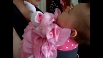 Jackie feeding Mayah like a bird