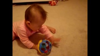 Mayah with her Ball