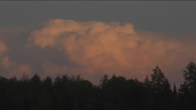 Time Lapse, Clouds at Sunset, Northern Wisconsin