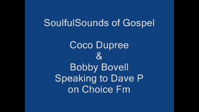 Dave P Radio Show: Soulful Sounds of Gospel