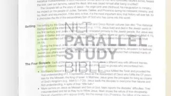 The NLT Parallel Study Bible