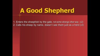 09-25-2011, Al Yoder, Shepherds, Sheep, Wolves, John 10