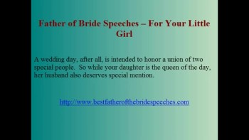 Speech Father of the Bride Needs to Prepare - 3 Components in Completing a Speech