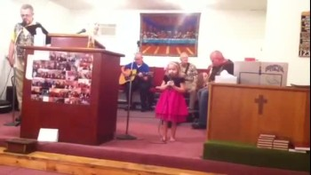All Mighty God,4 year old singer