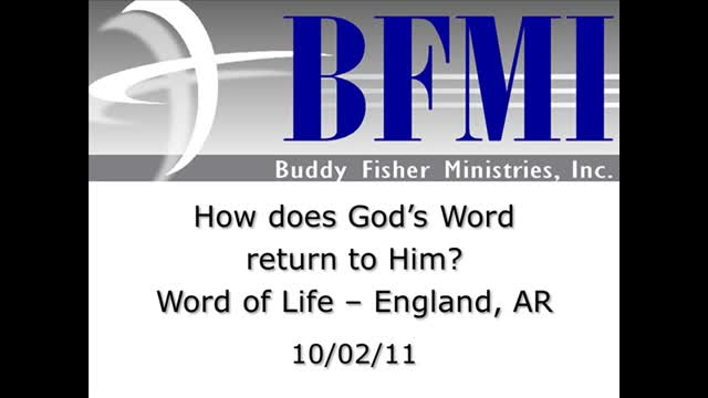 How does God's Word return to Him?