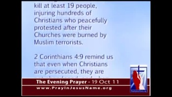 The Evening Prayer - 19 Oct 11 - Egyptian Police allow Muslims to Slaughter Christians