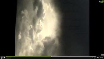 angel appears in a cloud