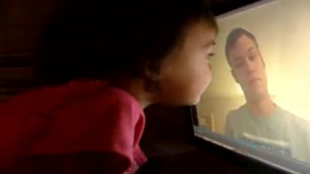 Two Year Old's Precious Reaction To Video Of Her Dad Who Is In The Military
