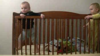 Twin Escapes From Crib