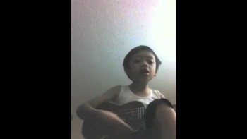 Four Year Old Plays Ukulele  Sings 'You Are My All In All'