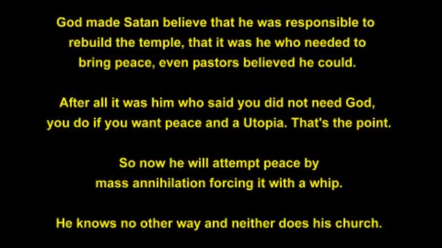 The World Peace Plan is In the Bible!