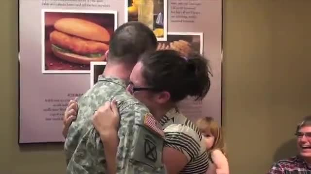 Soldier Surprises His Wife at Chick-fil-A!