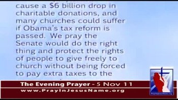 The Evening Prayer - 05 Nov 11 - Church Tax Deductions Under Fire in Senate