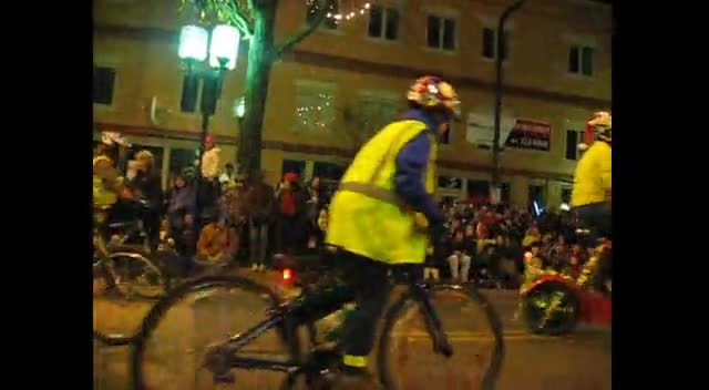 Christmas Parade Bicyclists