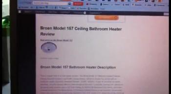 bathroom ceiling heater