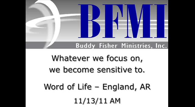 Whatever we focus on, we become sensitive to