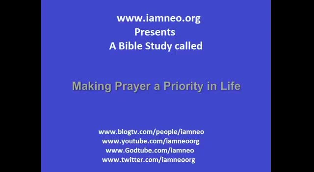 Making Prayer a Priority in Life