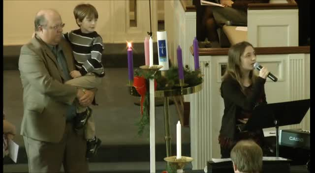 Advent Candle Lighting - Week 1