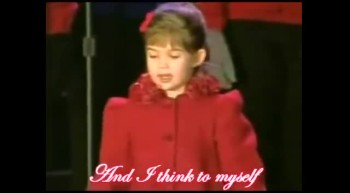 Cute 4 year old girl sings Christmas song for the president