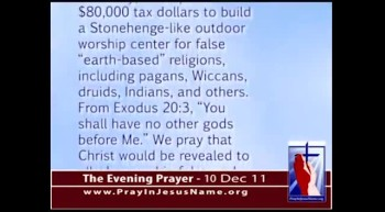 The Evening Prayer - 10 Dec 11 - USAF Academy Dedicates Pagan Worship Circle 