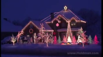 'Amazing Grace' Christmas Light Show