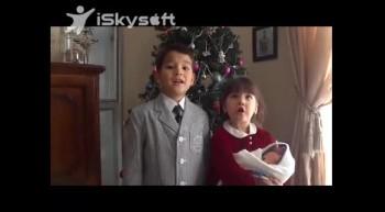Kenji and Alina singing Away in a Manger