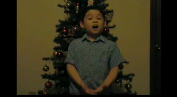 A.J. singing Away in a Manger