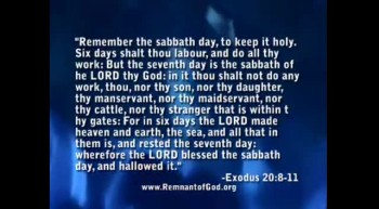Is Sunday Sabbath part 2
