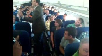 College Choir Sing GORGEOUS Performance of Give Me Jesus on Plane