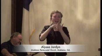"Alyssa Jordyn Signing ""Standing On Holy Ground"""