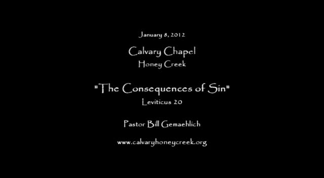 The Consequences of Sin
