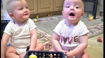 Twins Sneezing Like Daddy