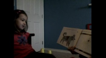 Madeline Reading Her Spider Book